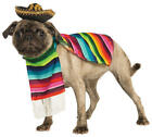 Mexican Dog Serape + Sombrero Fancy Dress Puppy Halloween Pet Costume Outfit