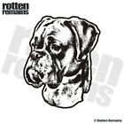 Boxer Dog Decal Pet Kennel Dogs Adopt Rescue Car Vinyl Sticker (LH) EMV