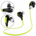 Portable Bluetooth Earphones Built-In Mic For Smartphone Cycling Rechargeable UK