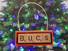 Tampa Bay Bucs Buccaneers Christmas Ornament Scrabble Tiles Key Chain Magnet