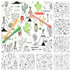 COLOURING FABRIC - 100% cotton COLOUR ME, COLOURING BOOK ACTIVITY CHILDREN