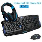 Внешний вид - 3 In 1 Game Equip Set 3 Color Keyboard + Mouse + 3.5mm Game Headphone With Mic