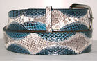 New Genuine Seasnake & Blue Snake Skin Belt will contact for size 24-48