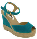 Ex Dorothy Perkins Canvas Fashion Platform Wedge Sandals Womens UK 4-7