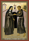 Giclée Print - Religious Art - Meeting of Sts. Francis & Clare