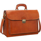 travel luggage bags online - Sharo Leather Bags Italian Leather Computer Brief and Non-Wheeled Business Case