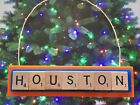 Houston Astros Christmas Ornament Scrabble Tiles Magnet Rear View Mirror on Ebay