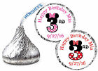 216 MINNIE MOUSE THIRD 3rd BIRTHDAY PARTY FAVORS HERSHEY KISS KISSES LABELS
