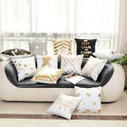 FASHION Gold Letter Animal Cotton Throw Pillow Case Cushion Cover Home Decor US