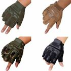 Military Tactical Half Finger Outdoor Motorcycle Hard Knuckle Gloves USA
