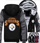 Winter Thicken Hoodie Team Pittsburgh Steelers Warm Sweatshirt Lacer Zipper Jack on eBay