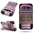 For Samsung Galaxy Avant Heavy Duty Design Hybrid Case w/ Kickstand Cover