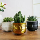 Modern Ceramic Vase Face Flower Pot Head Figure Design Holder Planter Decoration