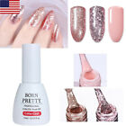10ml Rose Gold Glitter Nail Gel Polish Sequins Soak Off Mani