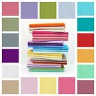 100% Cotton Fabric Sheeting Poplin Plain Solid  Dressmaking Patchwork Per Metre