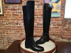 Marc Fisher Idle Black Leather & Stretch Over the Knee Boots NEW