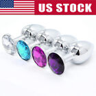 Kyпить Butt Toy Insert Plug Stainless Steel Metal Jeweled Plated Stopper Multi Color на еВаy.соm