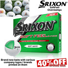 SRIXON SOFTFEEL GOLF BALLS NEW 2017 OVERSTAMP BALLS COMPANY LOGO'S ETC. 40% OFF