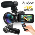 Andoer Full HD 1080P 24MP Digital Video Camera DV Camcorder + Microphone + Lens