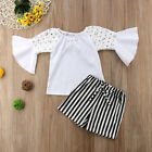 Baby Girl Clothes Outfit Infant Kid Lace Shirt Tops+short pants Summer  2PCS Set