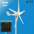 12V 24V 500W Power 5 Blades Horizontal Wind Turbine Generator Kit + Controller