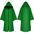 Halloween Cloak Medieval Hooded Wicca Long Robe Halloween Witchcraft Capes