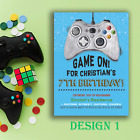 Personalised Video Game Controller Gaming Party Invitations & Thank You Cards