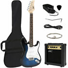 BCP 41in Beginner Electric Guitar Kit w/ Case, 10W Amp, Tremolo Bar