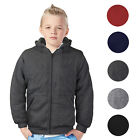 Внешний вид - Boys Kids Toddler Athletic Soft Sherpa Lined Fleece Zip Up Hoodie Sweater Jacket