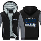 HOT Seattle Seahawks Fan Hoodie Fleece zip up Coat winter Jacket warm Sweatshirt on eBay