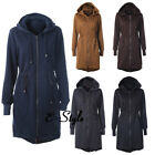 Womens Winter Warm Hooded Long Quilted Coats Ladies Zipper  Jacket Outwear