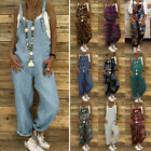 ZANZEA Women Dungaree Bib Cargo Pants Hip Hop Harem Pants Jumpsuit Romper Plus