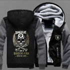 Winter Thicken Hoodie Oakland Raiders Warm Sweatshirt Lacer Zipper Unisex Jacket on eBay