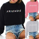 "Fashion Womens ""Friends""Print Crew Neck Sweatshirt Warm Hoodies Casual Pullovers"