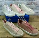WOMENS ADIDAS COURT VANTAGE PINK SUEDE RETRO PUMPS TRAINERS SIZES 5 - 6.5 FADED