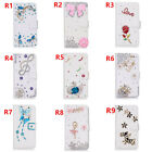 Bling diamonds Girls'Leather Filp slots Wallet Case phone Cover& 2 straps H9