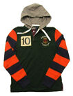 Polo Ralph Lauren Men's Green Multi Classic Fit Cotton Rugby Patch Hoodie