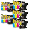 20 PK Ink Cartridge Set w/ v2 chip for Brother LC101 LC103 MFC-J245 MFC-J285DW