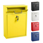AdirOffice Steel Locking Medium Drop Box Wall Mounted Mailbox