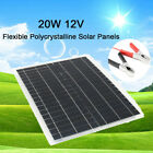 20W 12V Poly Solar Panel Off Grid Battery Charger w/ Controller For Car Boat US
