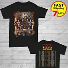 KISS 2019 'End of the Road' World Tour concert 2 side T-shirt Size Men Black  image