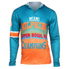 Miami Dolphins Super Bowl VII Champions Poly Hoody Tee on eBay