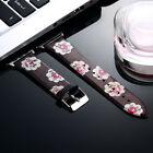 Stylish Birds Flower Silicone Wrist Band Strap For Apple Watch Series 38mm &42mm