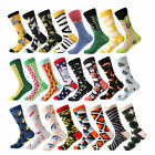 1Pair Men Cotton Socks Animal Bird Shark Zebra Corn Sea Food Sports Acc Gift Hot