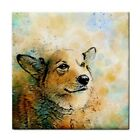 Ceramic Tile Coaster or Framed tile Dog 143 Corgi digital art L.Dumas