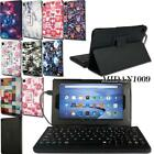 Leather Stand Cover Case + Micro USB Keyboard For Amazon Kindle Fire HD 8 Alexa
