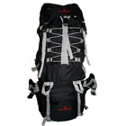 Waterproof 600D Rip-Stop Poly Mountain Camping Outdoor Backpack , Black