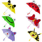 Kids Children Cute 3D Animal Ears Sun Rain Anti-UV Windproof Umbrella W/Whistle