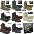Mens Army Combat Military Tactical Pro Boot Hiking Brown Black Desert Camo New