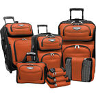 Traveler's Choice Amsterdam 8-piece Luggage Set 4 Colors